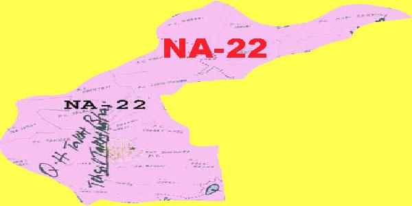 NA 22 Mardan Area Map of National Assembly Halqa 2018