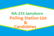 NA 233 Jamshoro Polling Station Names and List of Candidates for Election 2018