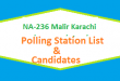 NA 236 Malir Karachi Polling Station Names and List of Candidates for Election 2018