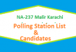 NA 237 Malir Karachi Polling Station Names and List of Candidates for Election 2018
