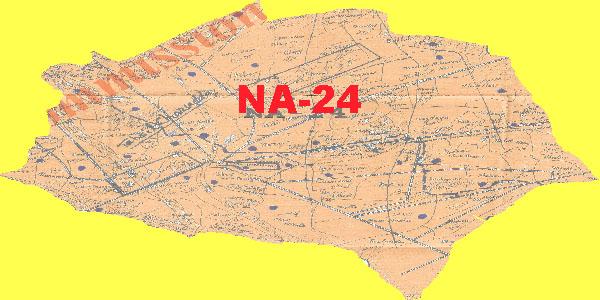 NA 24 Charsadda Area Map of National Assembly Halqa 2018