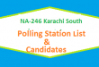 NA 246 Karachi South Polling Station Names and List of Candidates for Election 2018