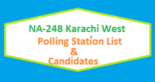 NA 248 Karachi West Polling Station Names and List of Candidates for Election 2018