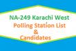 NA 249 Karachi West Polling Station Names and List of Candidates for Election 2018