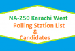 NA 250 Karachi West Polling Station Names and List of Candidates for Election 2018