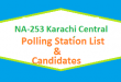 NA 253 Karachi Central Polling Station Names and List of Candidates for Election 2018