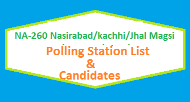 NA 260 Nasirabad kachhi Jhal Magsi Polling Station Names and List of Candidates for Election 2018