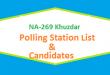 NA 269 Khuzdar Polling Station Names and List of Candidates for Election 2018