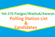 NA 270 Panjgur Washuk Awaran Polling Station Names and List of Candidates for Election 2018