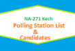 NA 271 Kech Polling Station Names and List of Candidates for Election 2018
