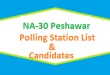 NA 30 Peshawar Polling Station Names and List of Candidates for Election 2018