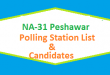 NA 31 Peshawar Polling Station Names and List of Candidates for Election 2018