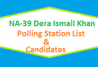 NA 39 Dera Ismail Khan Polling Station Names and List of Candidates for Election 2018