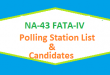 NA 43 FATA-IV Polling Station Names and List of Candidates for Election 2018