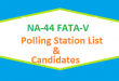 NA 44 FATA-V Polling Station Names and List of Candidates for Election 2018