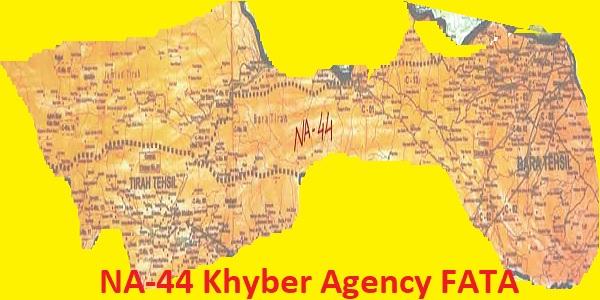 NA 44 Khyber Agency FATA Area Location Map of National Assembly Halqa 2018