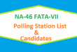 NA 46 FATA-VII Polling Station Names and List of Candidates for Election 2018
