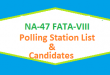 NA 47 FATA-VIII Polling Station Names and List of Candidates for Election 2018