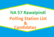 NA 57 Rawalpindi Polling Station Names and List of Candidates for Election 2018 - PTI Vs PMLN Vs PPP