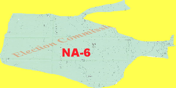 NA 6 Lower Dir Area Location Map of National Assembly Halqa 2018