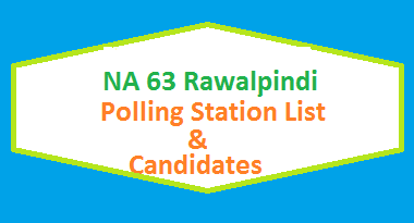 NA 63 Rawalpindi Polling Station Names and List of Candidates for Election 2018 - PTI Vs PMLN Vs PPP