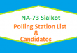 NA 73 Sialkot Polling Station Names and List of Candidates for Election 2018