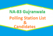 NA 83 Gujranwala Polling Station Names and List of Candidates for Election 2018