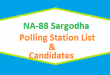 NA 88 Sargodha Polling Station Names and List of Candidates for Election 2018