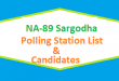 NA 89 Sargodha Polling Station Names and List of Candidates for Election 2018