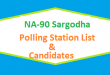 NA 90 Sargodha Polling Station Names and List of Candidates for Election 2018