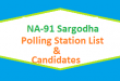 NA 91 Sargodha Polling Station Names and List of Candidates for Election 2018