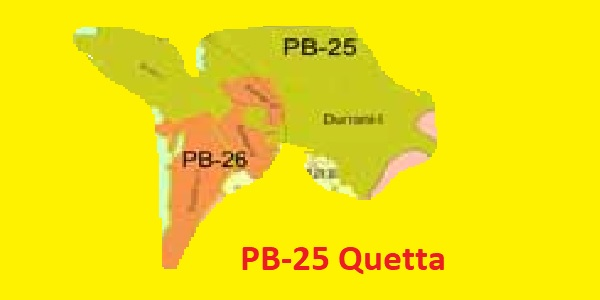 PB 25 Quetta Area Location Map of Balochistan Assembly Halqa 2018
