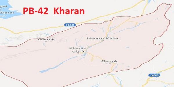 PB 42 Kharan Area Location Map of Balochistan Assembly Halqa 2018