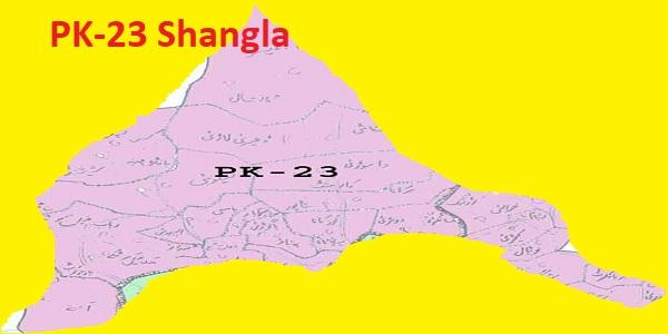 PK 23 Shangla Area Location Map of KPK Assembly Halqa 2018