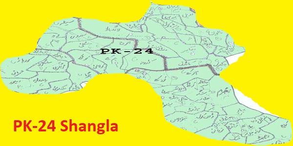 PK 24 Shangla Area Location Map of KPK Assembly Halqa 2018