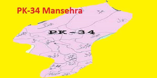 PK 34 Mansehra Area Location Map of KPK Assembly Halqa 2018