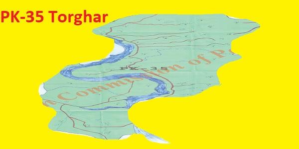 PK 35 Torghar Area Location Map of KPK Assembly Halqa 2018