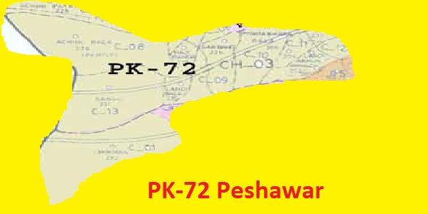 PK 72 Peshawar Area Location Map of KPK Assembly Halqa 2018