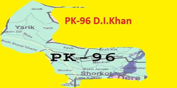 PK 96 D.I.Khan Area Location Map of KPK Assembly Halqa 2018