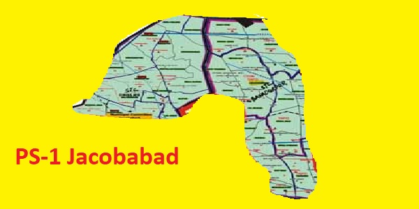 PS 1 Jacobabad Area Location Map of Sindh Assembly Halqa 2018