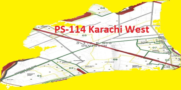 PS-114 Karachi West Area, Map, Candidates and Result