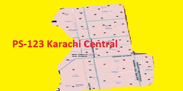 PS 123 Karachi Central Area Location Map of Sindh Assembly Halqa 2018