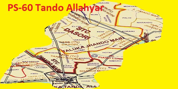 PS 60 Tando Allahyar Area Location Map of Sindh Assembly Halqa 2018