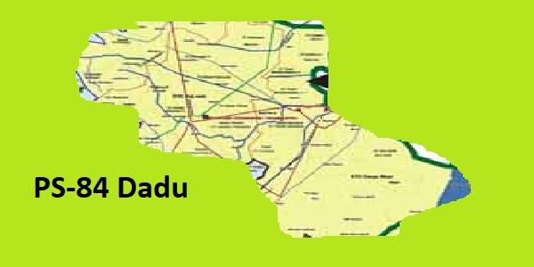 PS 84 Dadu Area Location Map of Sindh Assembly Halqa 2018