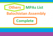 Balochistan Assembly PTI, JWP, HDP, BNPA, PKMAP MPA List - Election 2018