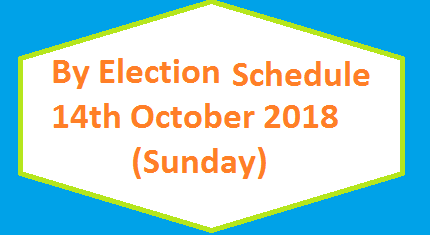 By Election Schedule 2018 - 14 October Sunday - MNA and MPA Seats By Polls