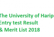 Haripur University Admission 2018 BS Programs - Entry test Result and 1st merit List