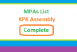 KPK Assembly MPA List All (Complete) - Election 2018