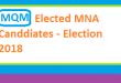 MQM Elected List of MNA Candidates in Election 2018