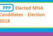 PPP Elected List of MNA Candidates in Election 2018